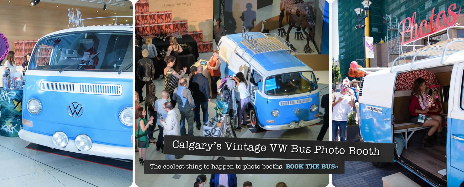 Calgary's Vintage VW Bus Photo Booth
