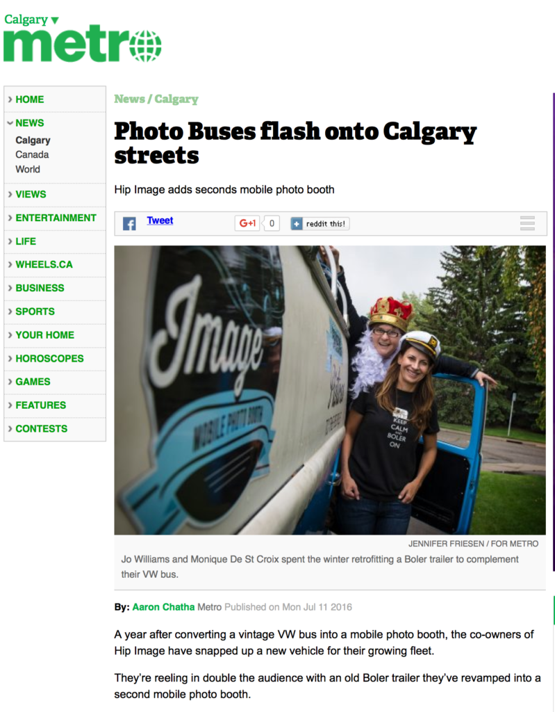 Calgary Photo Booth Metro News
